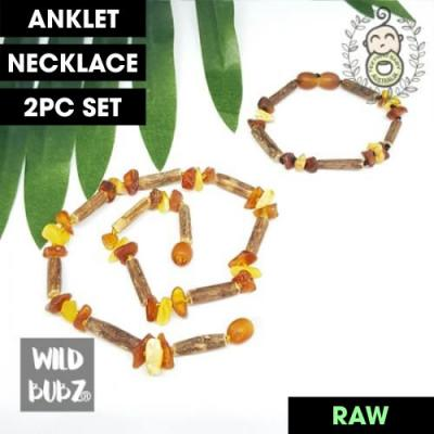 BOHO BABE | Hazlewood + Raw Honey Ombre | Anklet - Necklace - or - Set