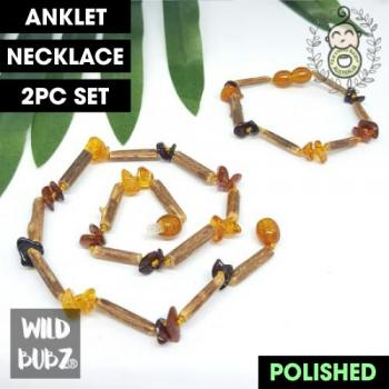 BOHO BABE | Hazlewood + Polished Honey Ombre | Anklet - Necklace - or - Set