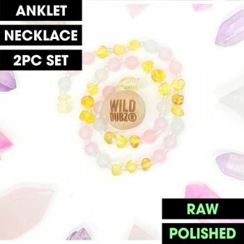 LUXE | Unicorn Ombre Rainbow Gemstone Amber | WILDBUBZ® | Anklet - Necklace - or - Set
