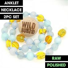LUXE Blue Ombre | Gemstone Amber | WILDBUBZ® | Anklet - Necklace - or - Set