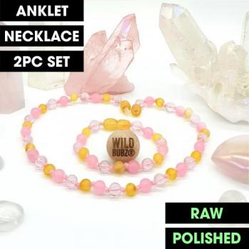 LUXE Rose Quartz Crystal Aura | Gemstone Amber | WILDBUBZ®