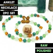 LUXE | Tropical | Ombre | Raw | Gemstone Baltic Amber | WILDBUBZ® | Anklet - Necklace - or - Set