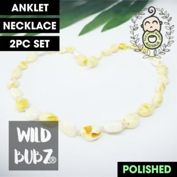 Milky | Premium Bean | Baltic Amber | Anklet - Necklace - or - Set | Polished