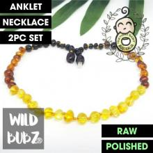 Honey Ombre | Premium Bud | Baltic Amber | Anklet - Necklace - or - Set