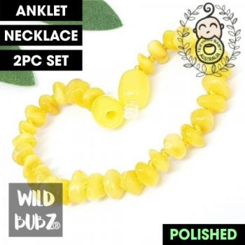 Milky Butter | Premium Bud | Baltic Amber | Anklet - Necklace - or - Set
