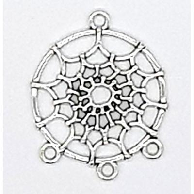 35mm Dreamcatcher Silver Charm