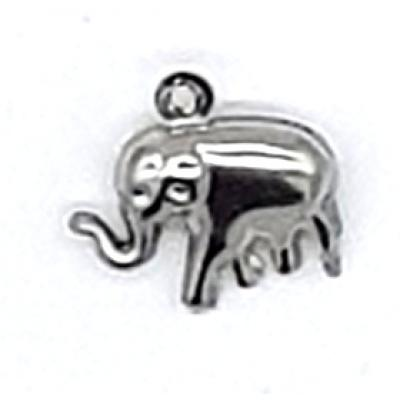 15mm puffy elephant silver bear Charm | as low as $0.99