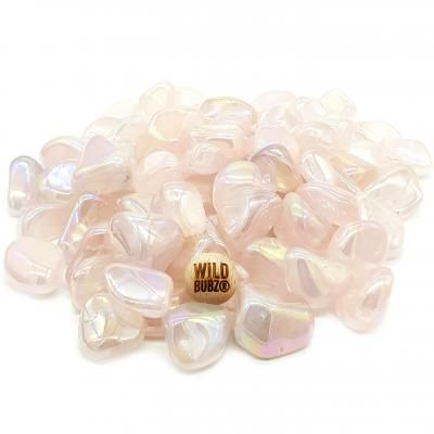 ROSE QUARTZ Angel AURA | Tumble Stone| WILDBUBZ®