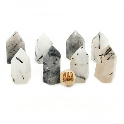 Tourmalated Quartz Crystal Points | WILDBUBZ®
