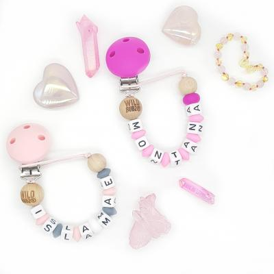 Custom | Personalised Name | Dummy Chain | Silicone Clip End | WILDBUBZ®