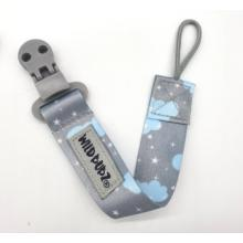 WILD BUBZ® | Flexi Safe Dummy Clips | Aqua Grey Twinkle Sky Cloud