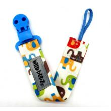 WILD BUBZ® | Flexi Safe Dummy Clips | Blue Bright Elephants