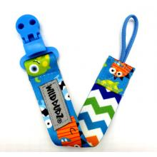 WILD BUBZ® | Flexi Safe Dummy Clips | Blue LIttle Monsters