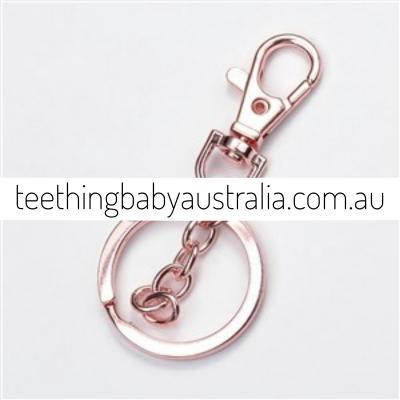 Pink Rose Gold Key Ring / Key Chain / Clasps