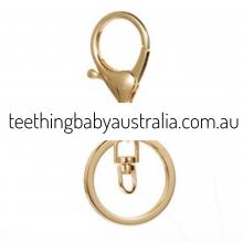 Old Gold Key Ring / Key Chain / Clasps