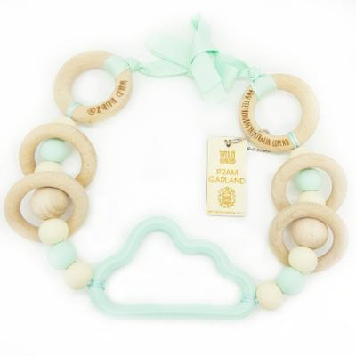 Cloud | Pram Garland Toy | by WILDBUBZ® | Mint Neutral | + MORE OPTIONS +