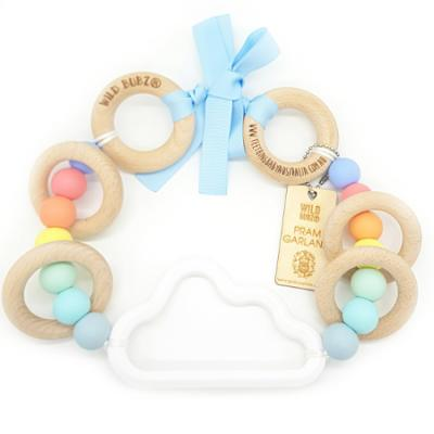 Cloud | Pram Garland Toy | by WILDBUBZ® | Blue Rainbow | + MORE OPTIONS +
