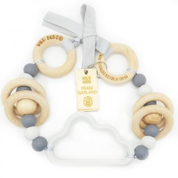 Cloud | Pram Garland Toy | by WILDBUBZ® | Grey Neutral | + MORE OPTIONS +