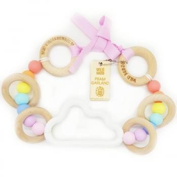 Cloud | Pram Garland Toy | by WILDBUBZ® | Pink Rainbow | + MORE OPTIONS +