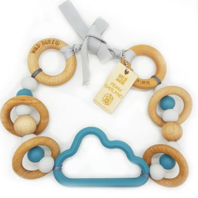Teal | Cloud | Pram Garland Toy