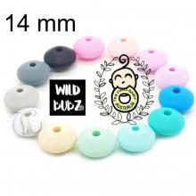 14mm Spacer Beads | Silicone | SEAMLESS | Exclusive colours | as low as $0.59