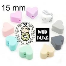 15mm Heart Silicone Beads | as low as $0.99