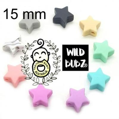15mm Star Silicone Beads | as low as $0.99