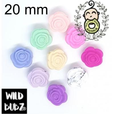 20mm Silicone Rose Flower Bloom Beads | as low as $0.79