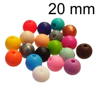 20mm Round Silicone Beads - Food Grade
