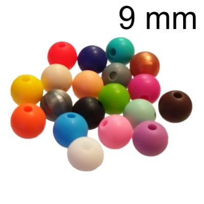 09 mm Round Silicone Beads - Food-grade -  •NEW• 63 + EXCLUSIVE COLOURS