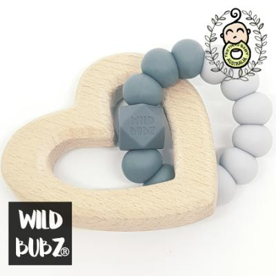OMBRE | Silicone + Beech | Teether Toy | WILD BUBZ® | Optional Name Engraving + Shapes