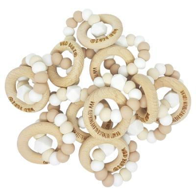 NEUTRAL | NATURE Beech Teether Toy | Personalised | FREE NAME ENGRAVING