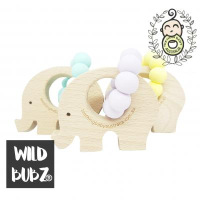 NATURE TOYS | Neutral Pastel | Teether Toys| WILDBUBZ® | Optional Name Engraving + Shapes