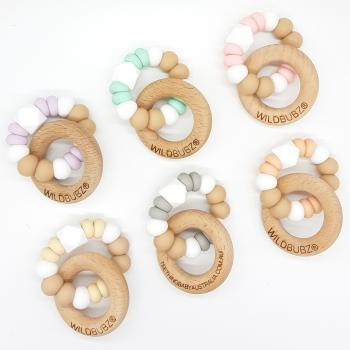 TEXTURE | NATURAL Teether Toy by WILD BUBZ®| Optional Name Engraving