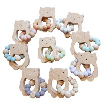WILD BUBZ® MODERN Nature Woodland Bear TEETHER TOY | Colour + Shape Options