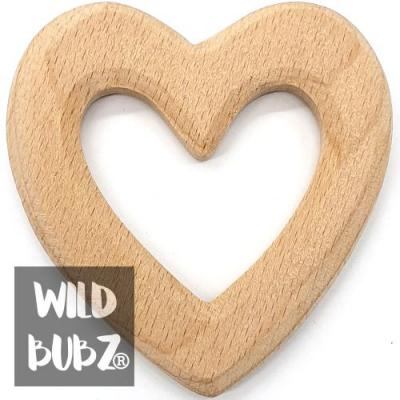 Beech Wood Teether Toys - Heart