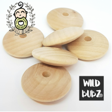 30mm | DISK | Maple Wood Beads | Non-Toxic | as low as $0.99
