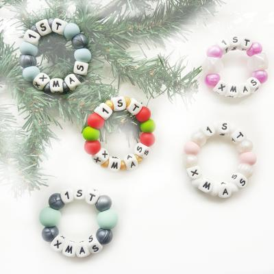 CHILL + CHEW | XMAS  Christmas - Personalised Baby Teether - WILD BUBZ®