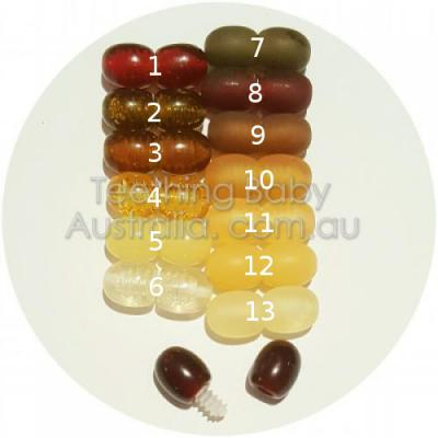 Amber jewellery safety Screw Clasps