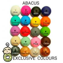 14mm Abacus Silicone Beads - Food Grade