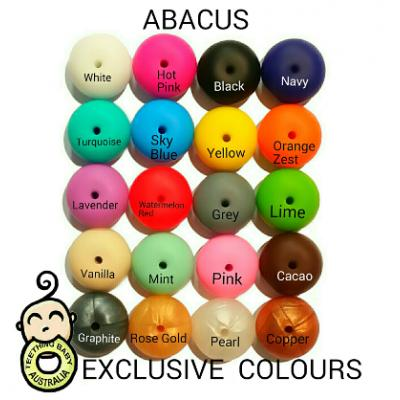 14mm Abacus Silicone Beads | SEAMLESS | Exclusive colours | as low as $0.59