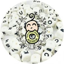 Alphabet Letter Silicone Beads - 12mm