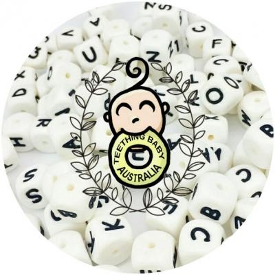 Alphabet Letter Silicone Beads - 12mm | as low as $0.69