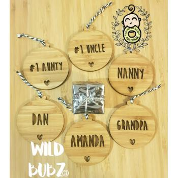 Personalised Christmas Ornament - Bamboo
