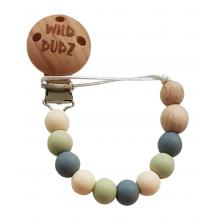 Neutral / Grey - Dummy Chain | WILD BUBZ® | Optional Baby Name