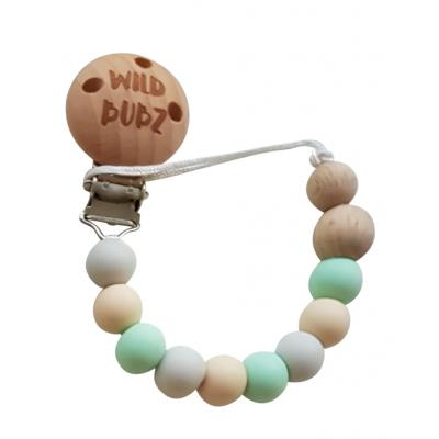 Neutral / Mint - Dummy Chain | WILD BUBZ® | Optional Baby Name