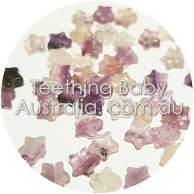 6mm Natutal Amethys STAR gemstone beads