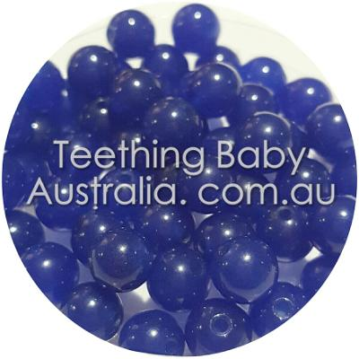 6mm Natutal blue jade dyed gemstone beads - round