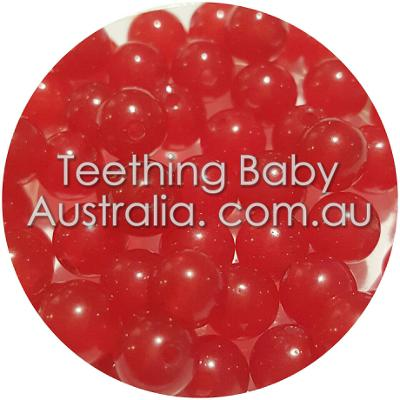 6mm Natutal Red Jade dyed gemstone beads - round