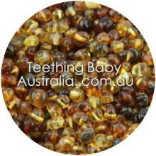6mm Polished Cherry honey ombre premium bud amber beads